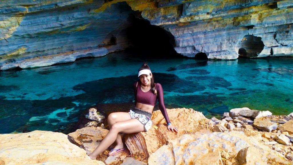 Pratinha (gruta onde tem início a flutuação)
