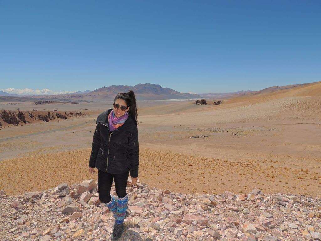 """""""Agasalho"""" completo - resistindo ao frio do Atacama"""