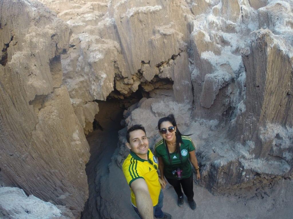Cavernas de sal no Vale da Lua - deserto do Atacama