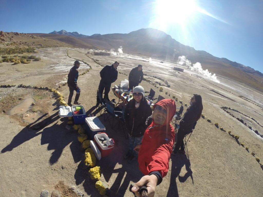 Café da manhã bem diferente - Geisers del Tatio - deserto do Atacama