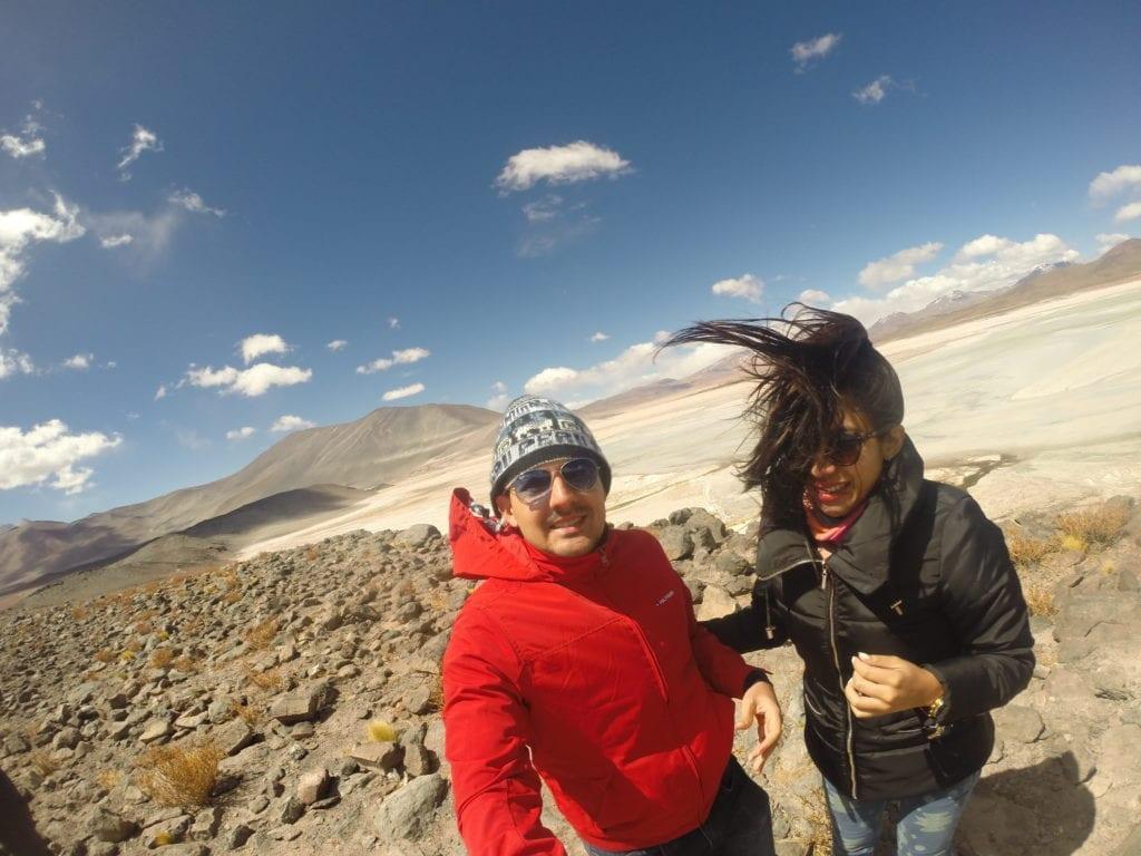 Olha a ventania - Piedras Rojas - deserto do Atacama