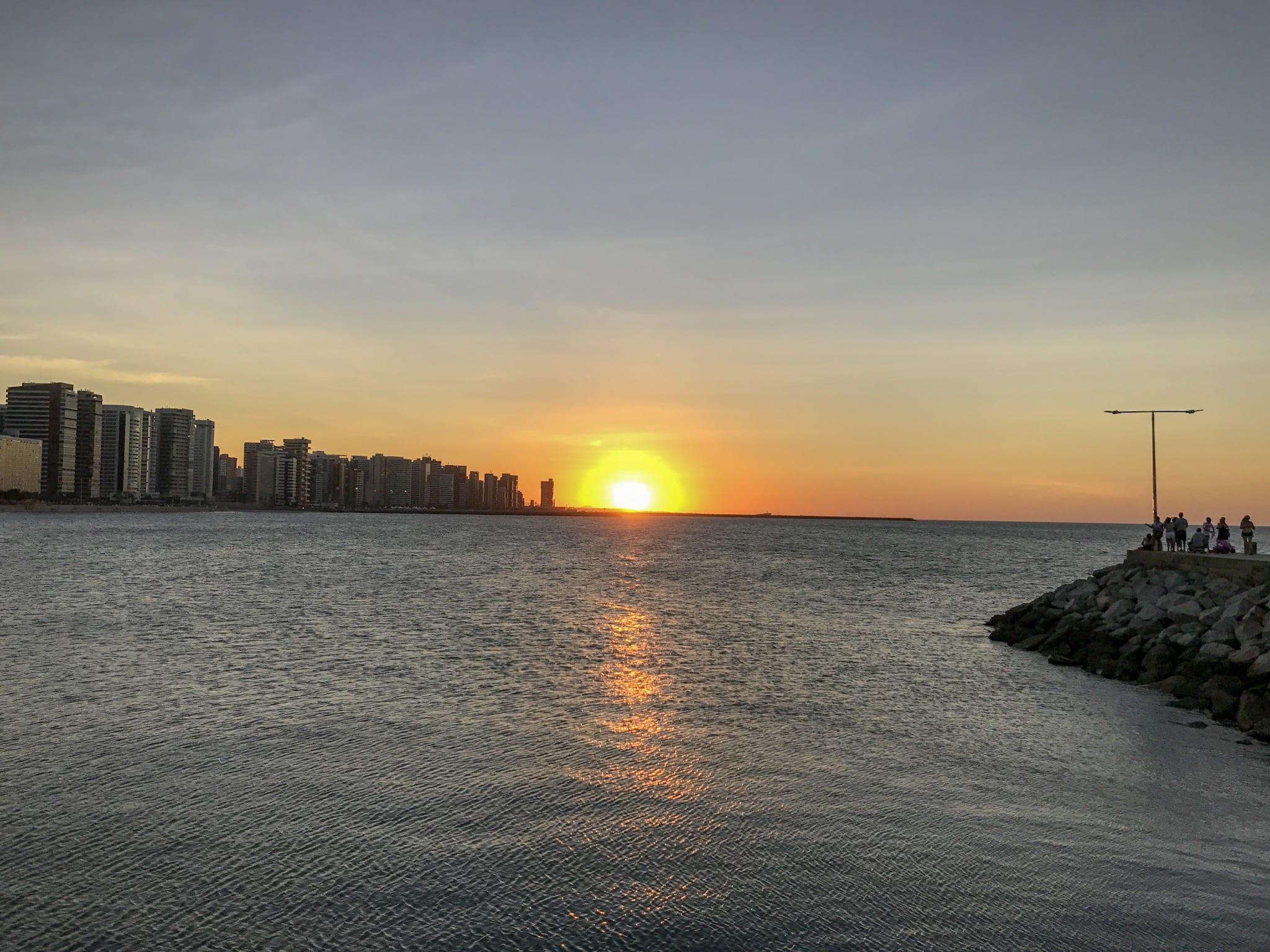 Por do Sol em Fortaleza