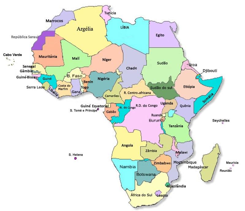Mapa - ÁFRICA - África do Sul