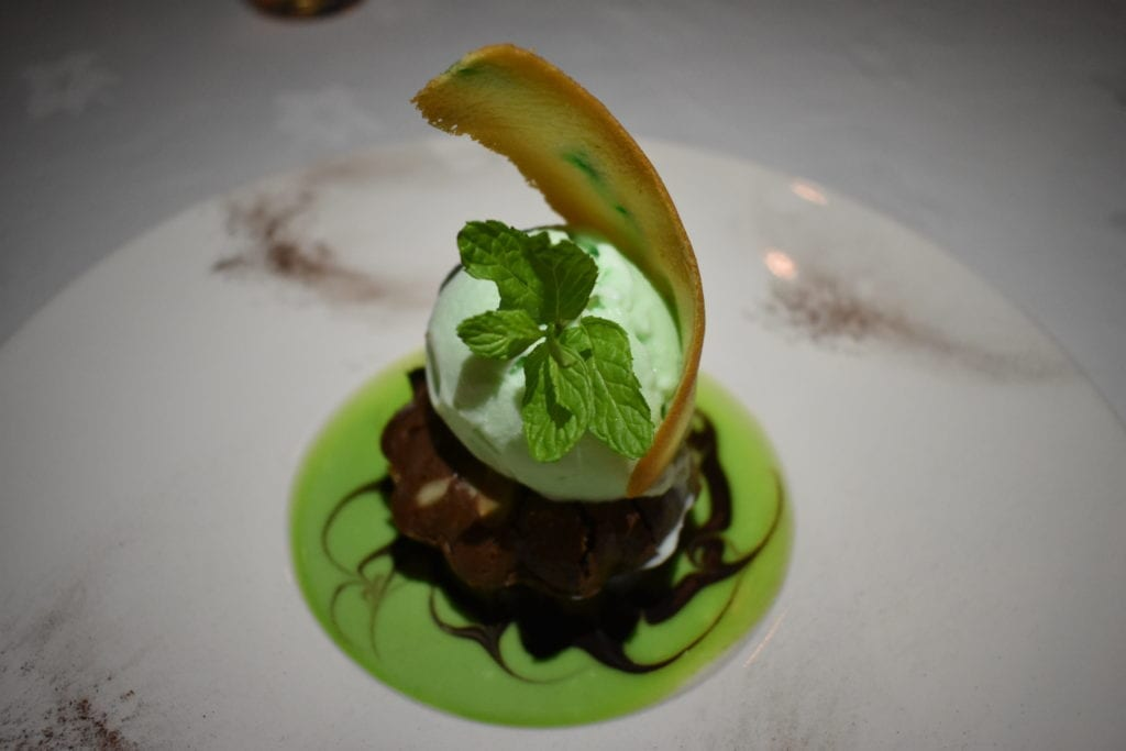 Sobremesa no restaurante Plantation - The Residence - Mauritius