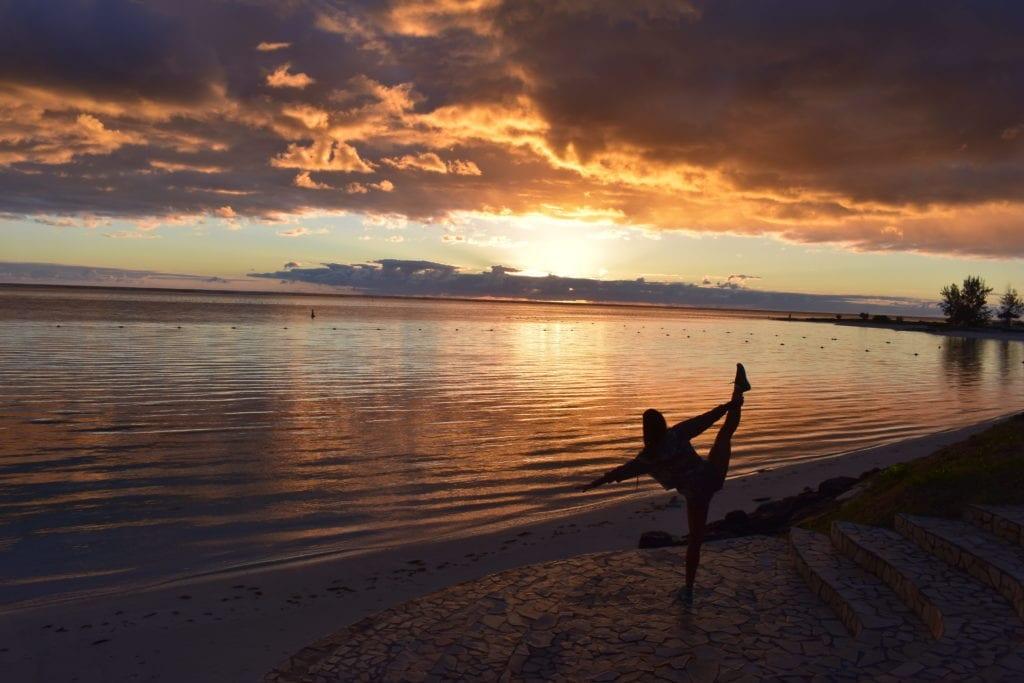 Nascer do sol em Belle Mare - Mauritius