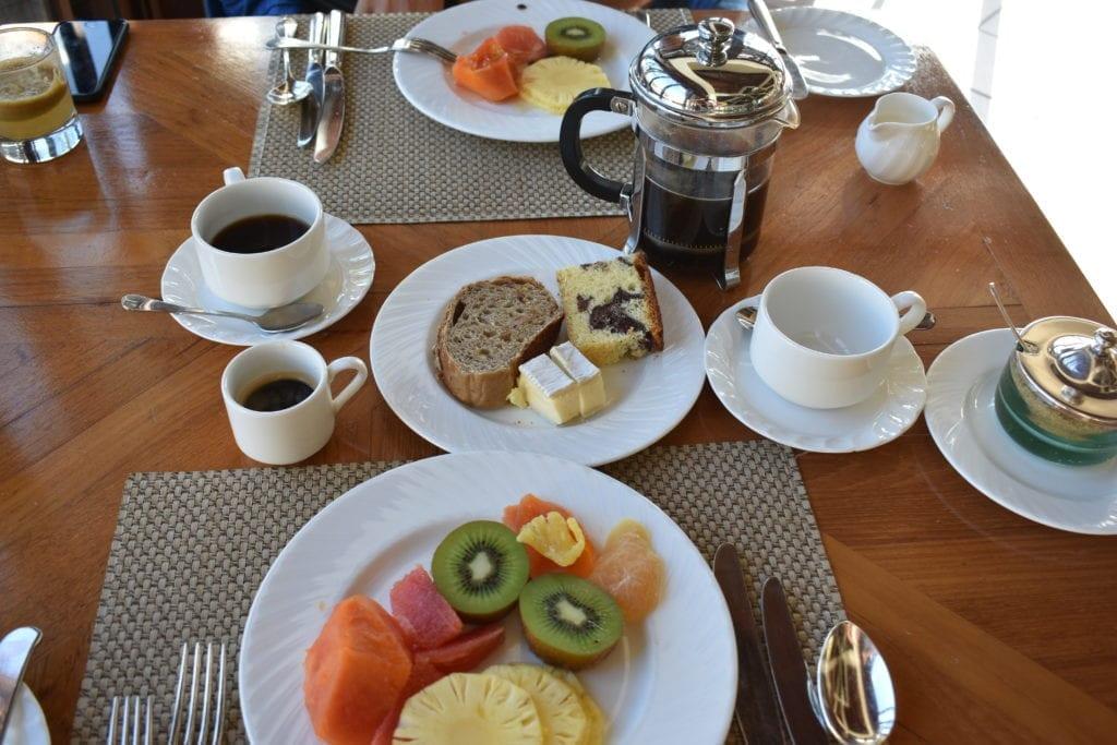 Uma parte do nosso café da manhã - The Residence - Mauritius