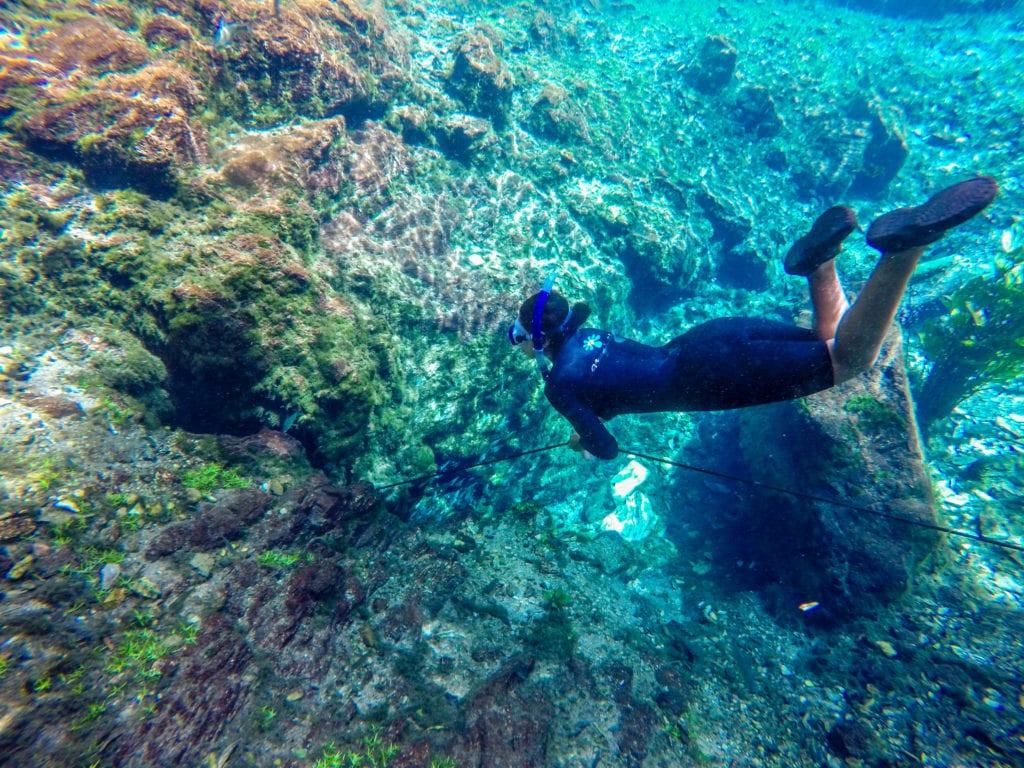 Apneia na Nascente Azul - Nascente do Rio Bonito
