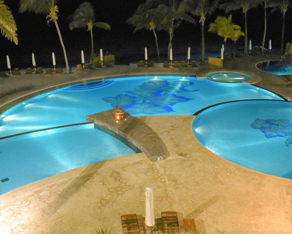 The Residence Mauritius - piscina noturna