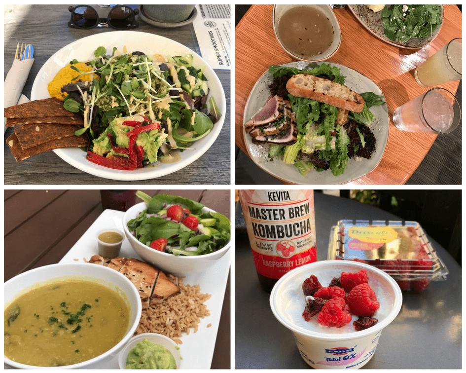 dieta em viagem - salada EUA