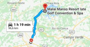 mapa Malai Manso
