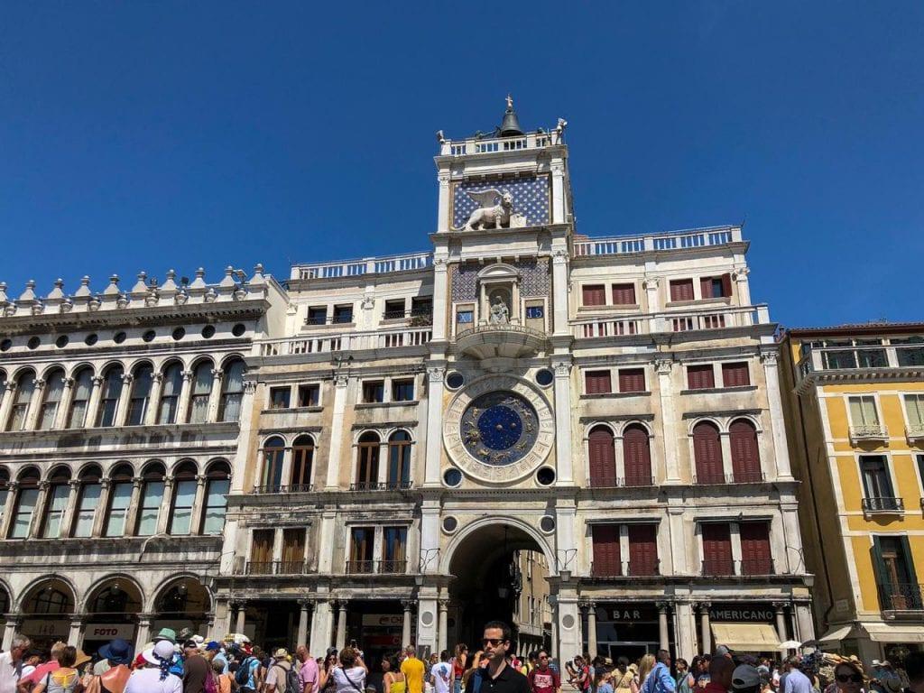 Torre do Relógio na Piazza San Marco
