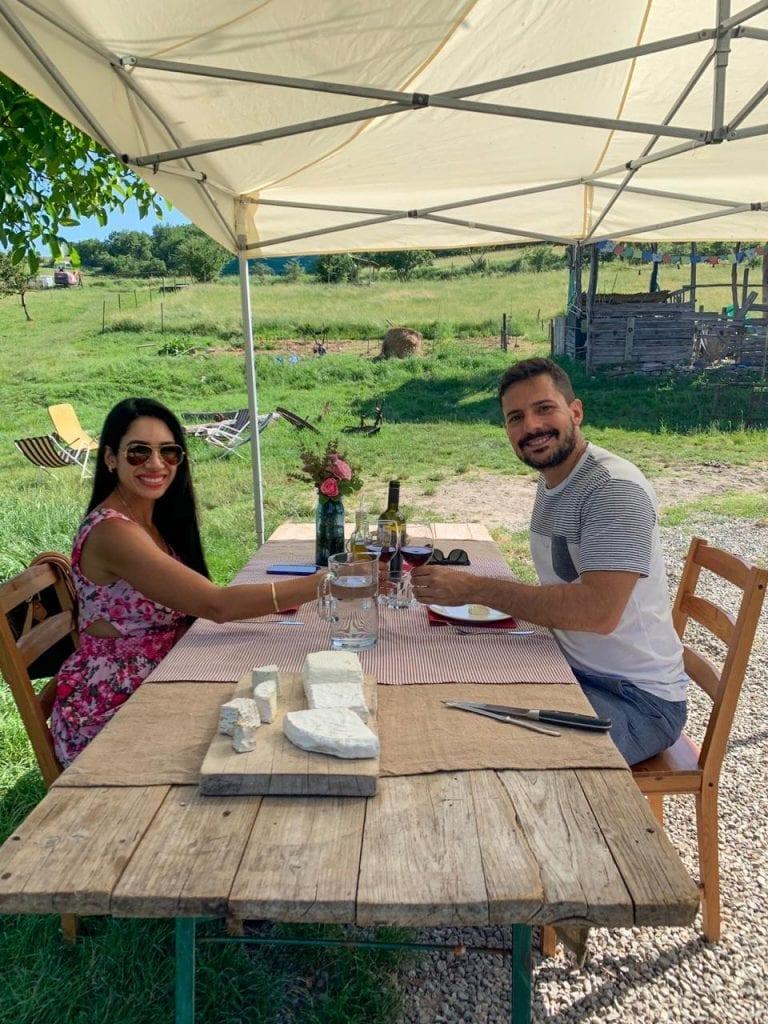Fazenda de queijo de cabra na Toscana