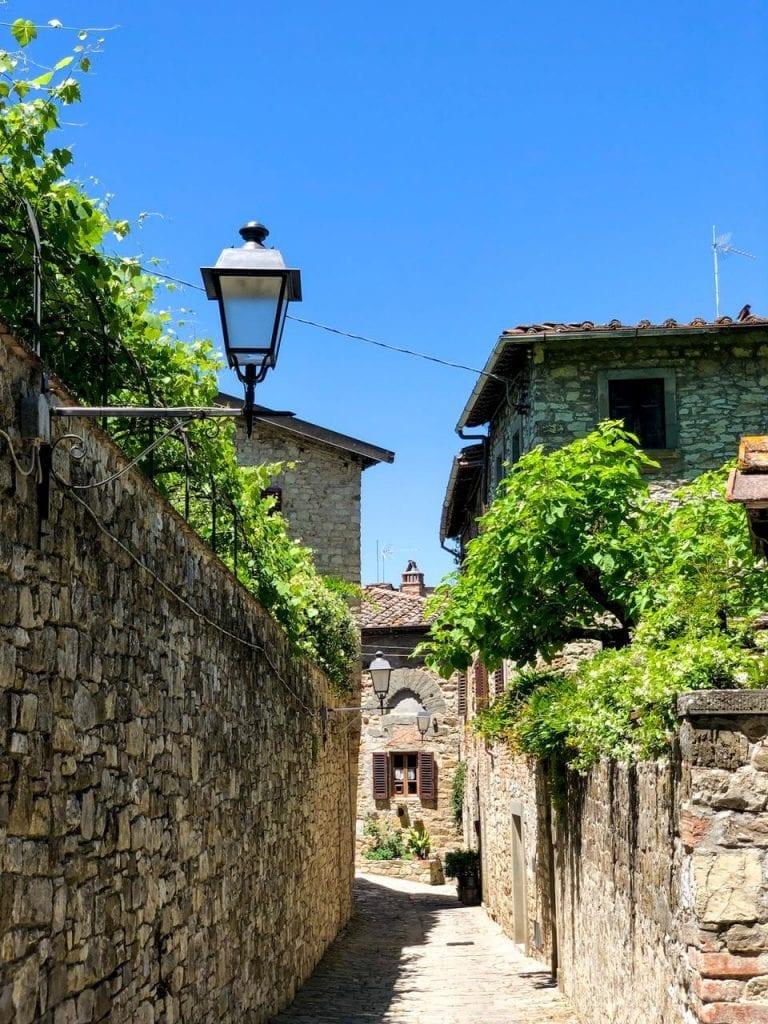 Montefioralle na região da Toscana