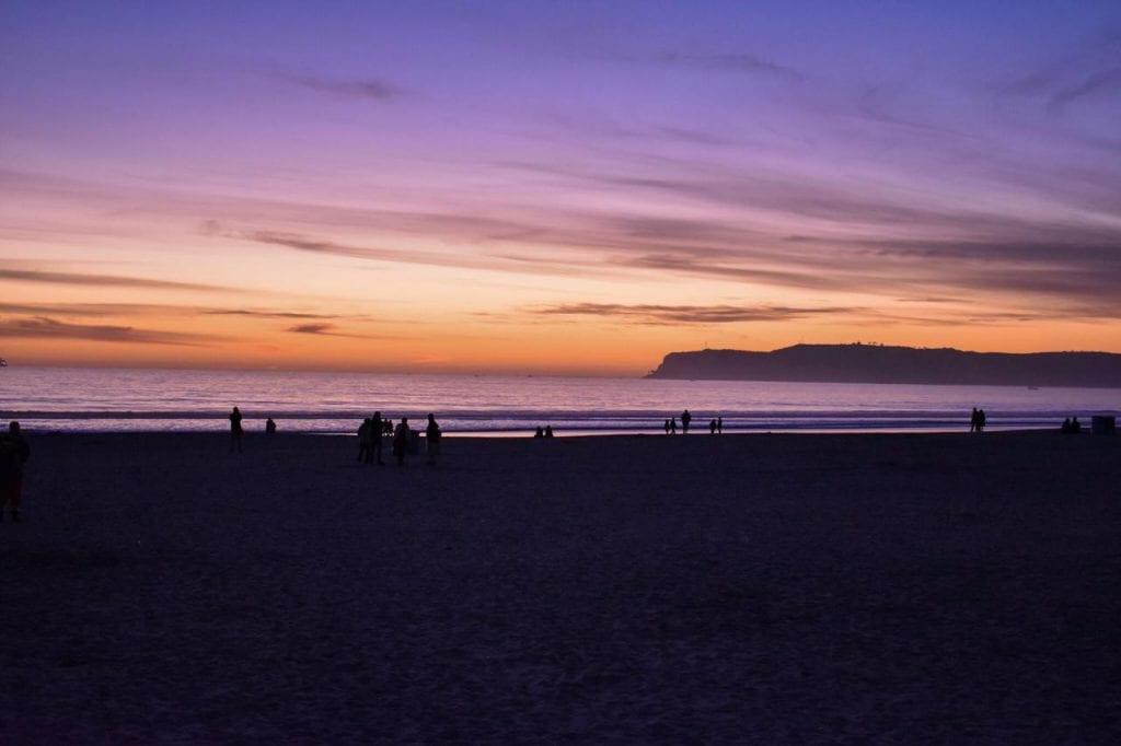 por do sol em Coronado Island, San Diego