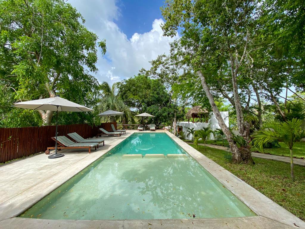 piscina do hotel Mi Kasa Tu Kasa Bacalar