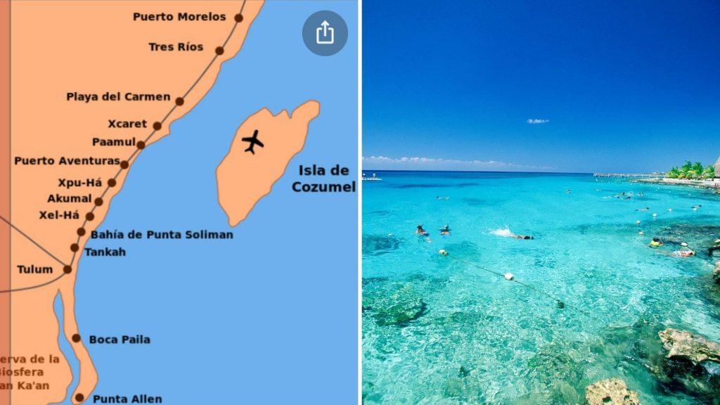 onde fica Playa del Carmen e Cozumel